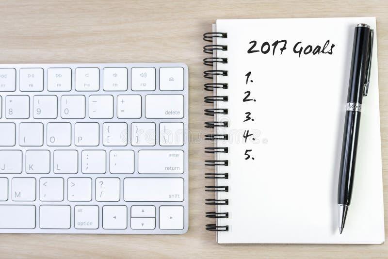 concept de 2017 résolutions de buts image libre de droits