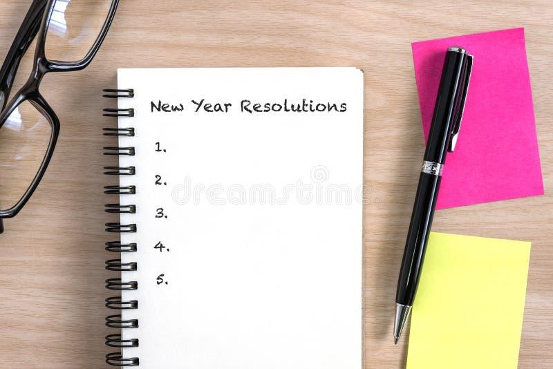 Concept de résolutions de nouvelle année photographie stock libre de droits