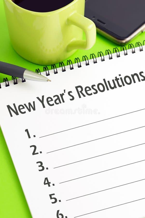 Concept de résolutions du ` s de nouvelle année image libre de droits