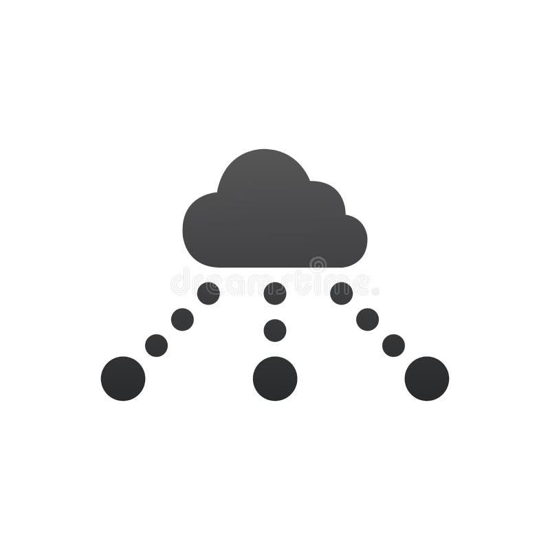 concept de r?seau de technologie de nuage Illustration de vecteur d'isolement sur le fond blanc illustration libre de droits