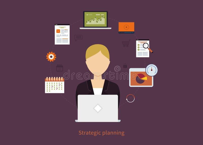 Concept de raadplegende diensten, projectleiding stock illustratie
