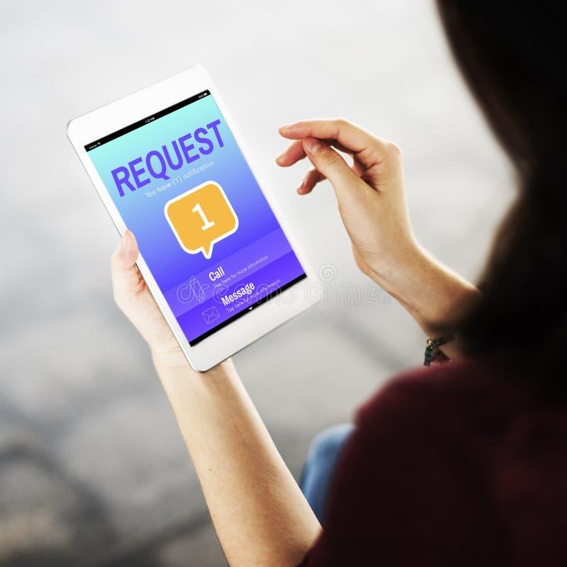 Concept de rappel d'alerte d'avis de communication de transmission de messages photographie stock libre de droits
