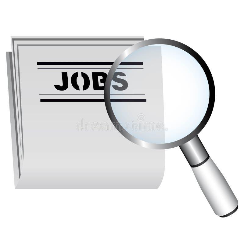 Concept de recherche d'emploi illustration de vecteur
