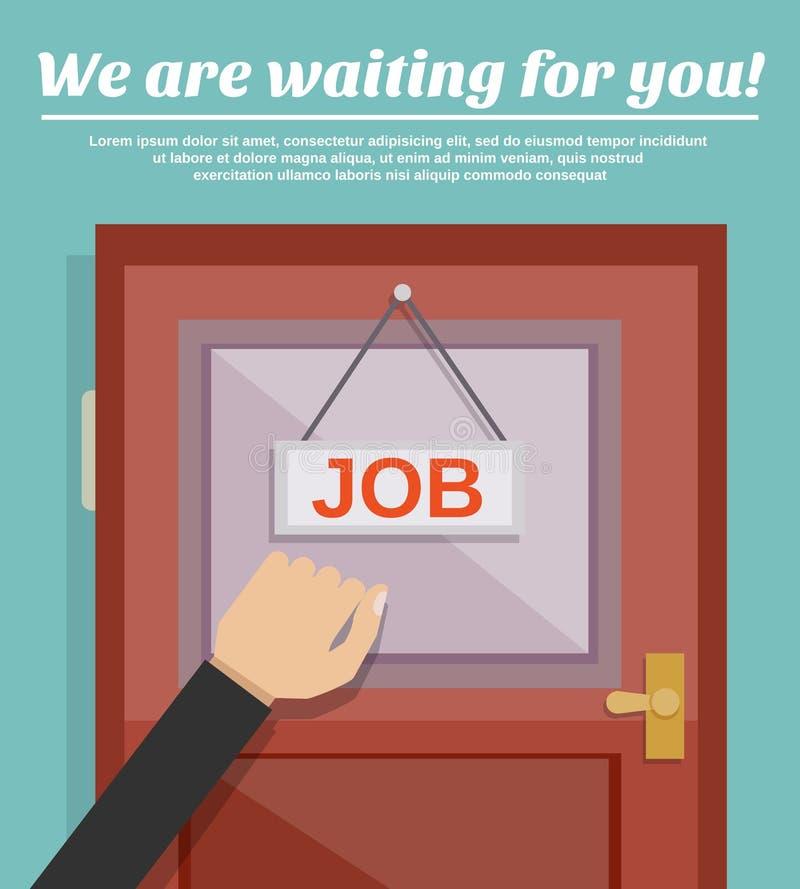 Concept de recherche d'un emploi illustration libre de droits