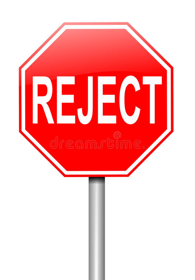 Concept de rejet. illustration de vecteur