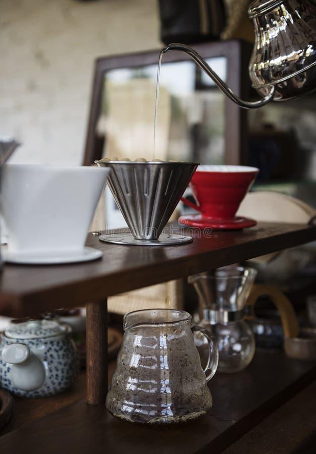 Concept de relaxation de Cafe Caffeine Drink de barman de boisson photographie stock libre de droits