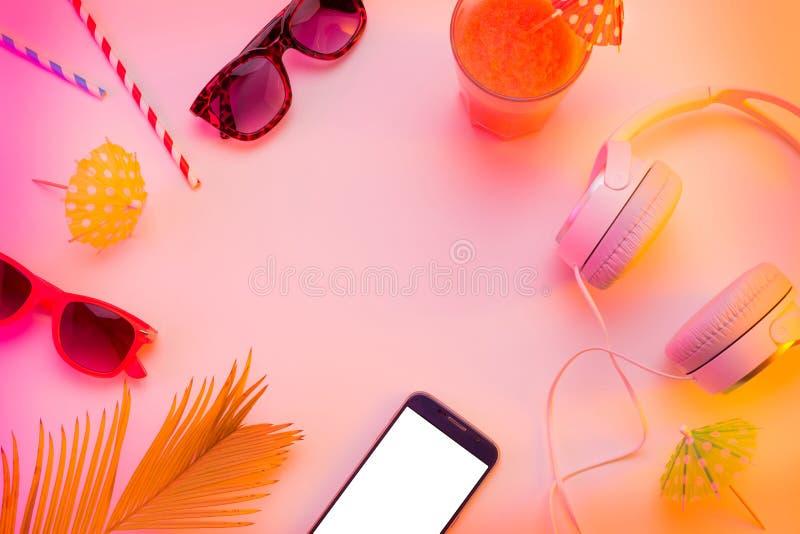 Concept de relaxation de vacances d'été - copiez l'espace photographie stock libre de droits