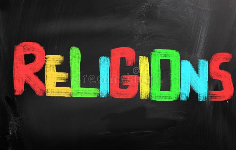 Concept de religions image libre de droits