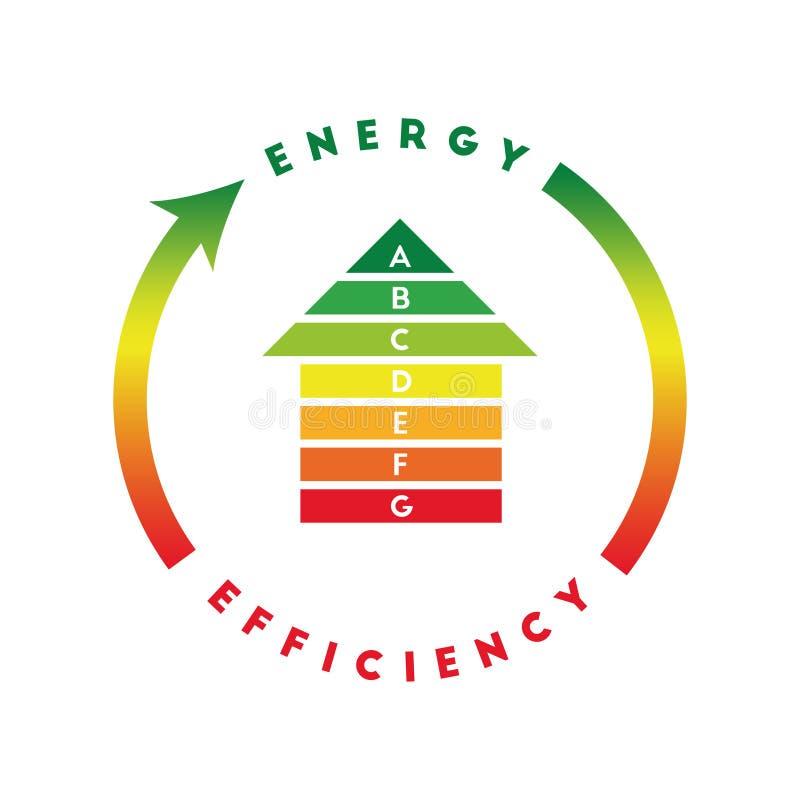 Concept de rendement énergétique avec la maison illustration de vecteur