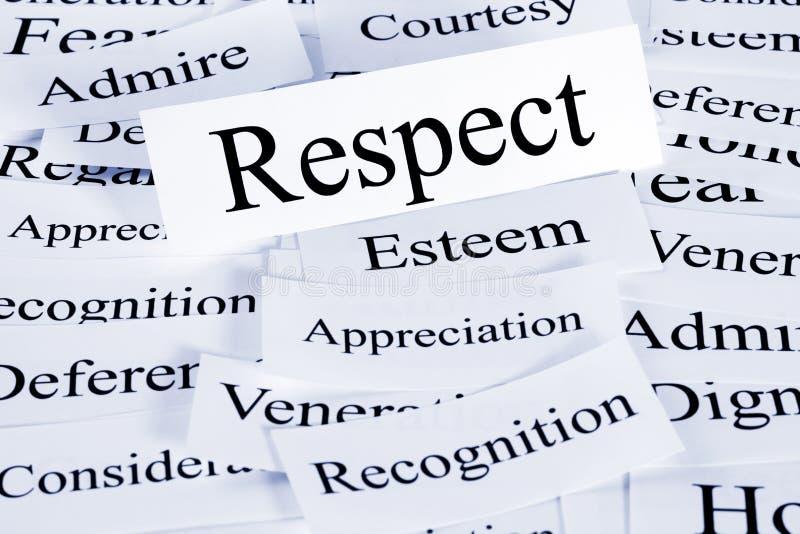 Concept de respect photographie stock