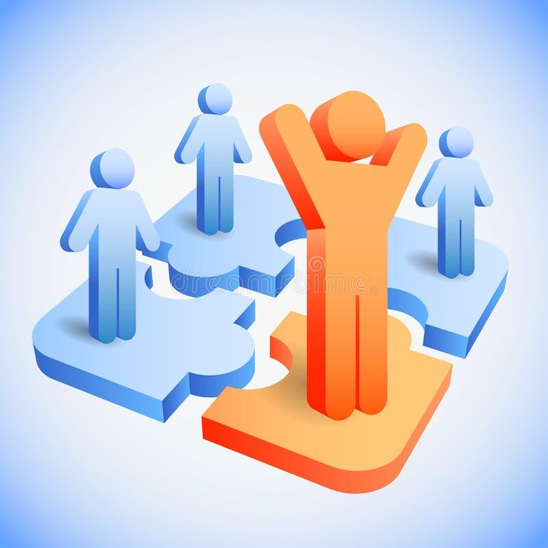 Concept de ressources humaines illustration stock