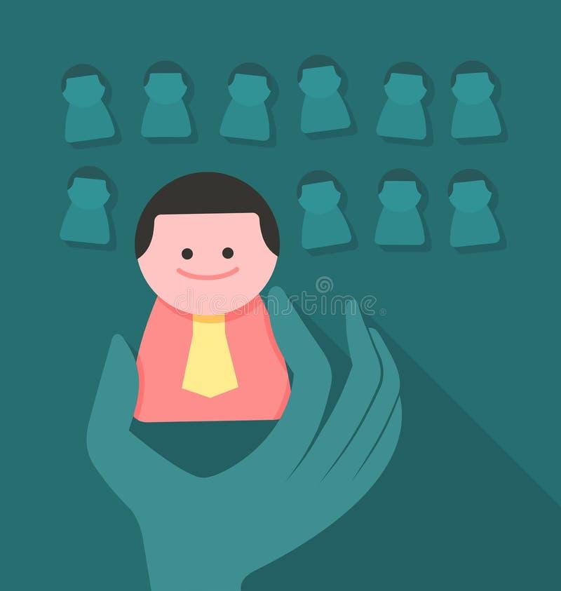 Concept de ressources humaines illustration de vecteur