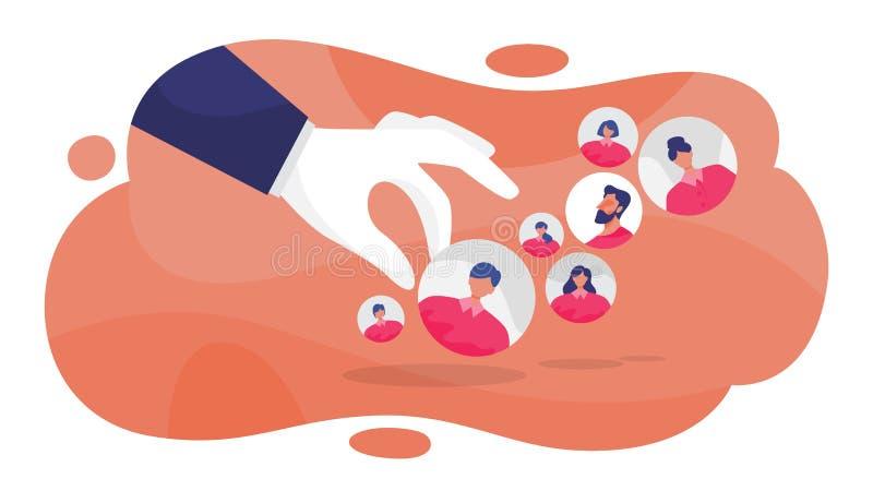 Concept de ressources humaines Idée d'un recrutement illustration stock