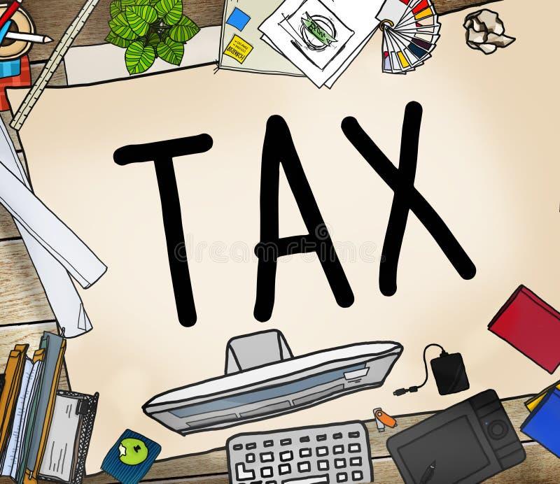 Concept de revenu d'exemption de retour de remboursement d'imposition d'impôts illustration libre de droits