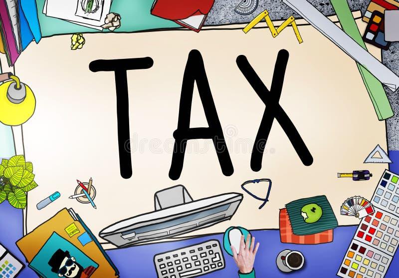 Concept de revenu d'exemption de retour de remboursement d'imposition d'impôts illustration de vecteur