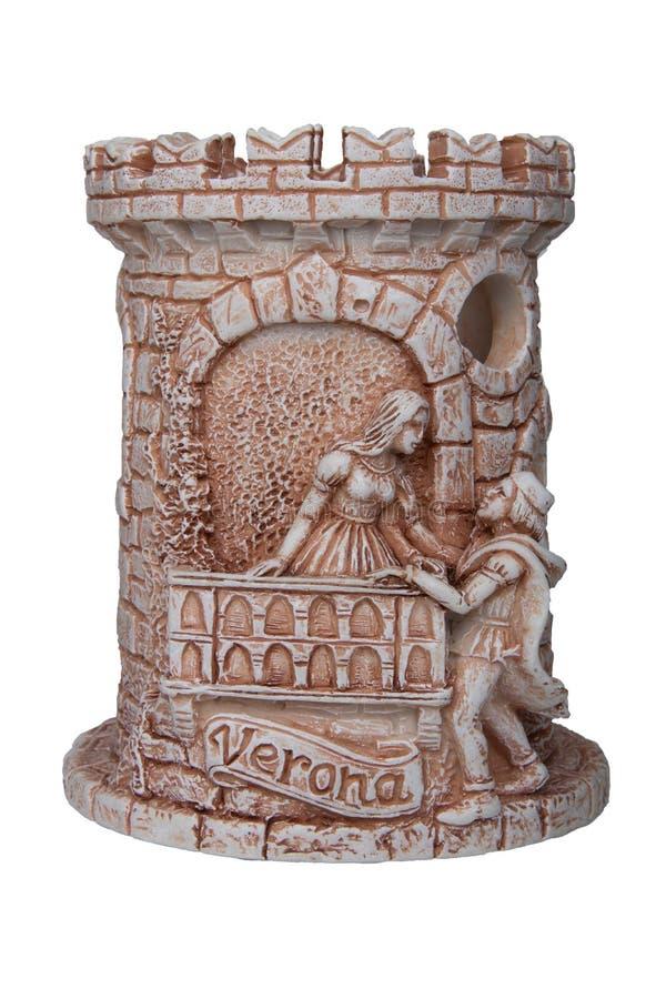 Concept de Romeo et de Juliet Un souvenir fait à partir d'en céramique du Ba images stock
