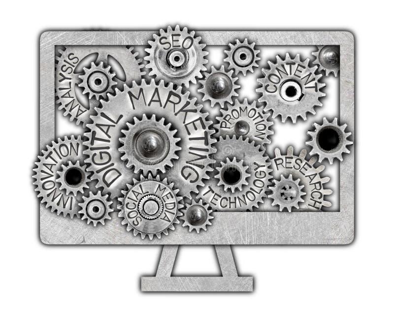 Concept de roue en métal illustration libre de droits