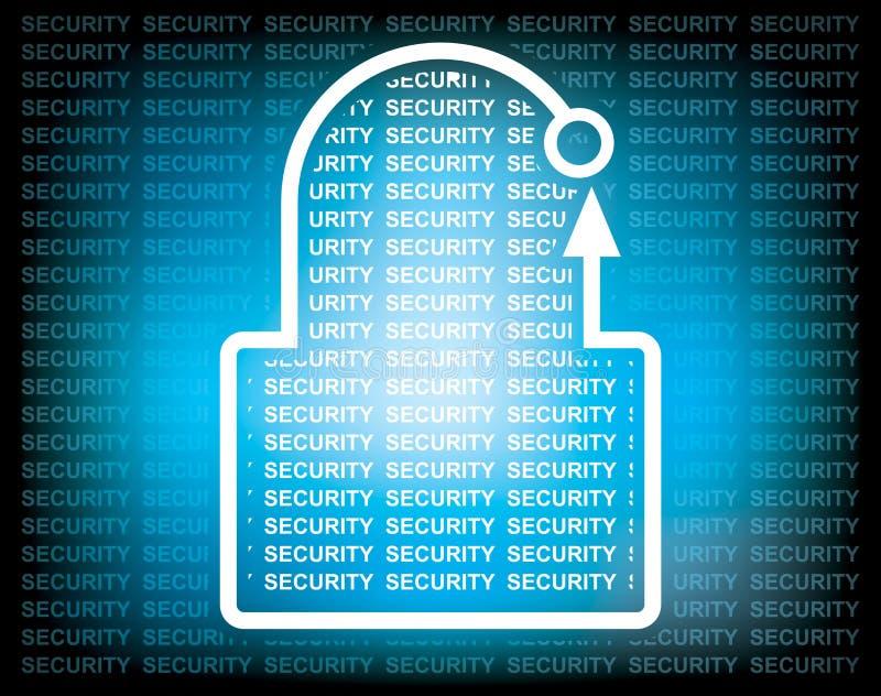 Concept de sécurité avec le cadenas abstrait illustration de vecteur
