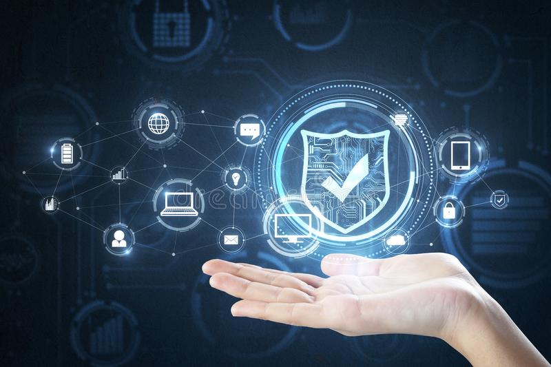 Concept de sécurité d'Internet illustration libre de droits