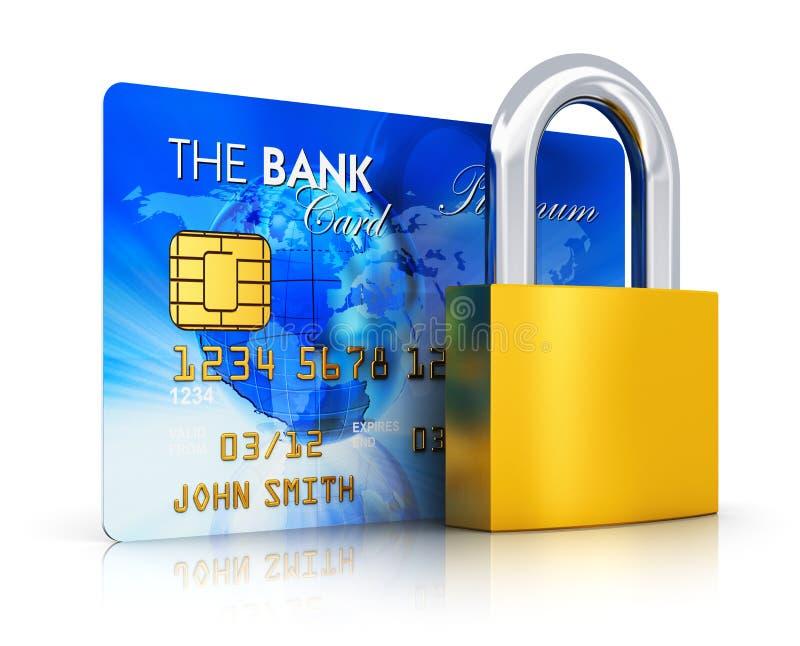 Concept de sécurité d'opérations bancaires illustration de vecteur