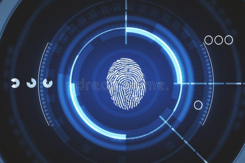 Concept de sécurité et de technologie illustration libre de droits