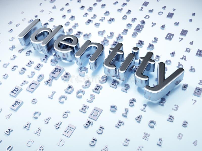 Concept de sécurité : Identité argentée sur numérique illustration libre de droits