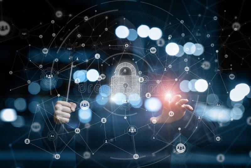 Concept de sécurité de réseau illustration stock