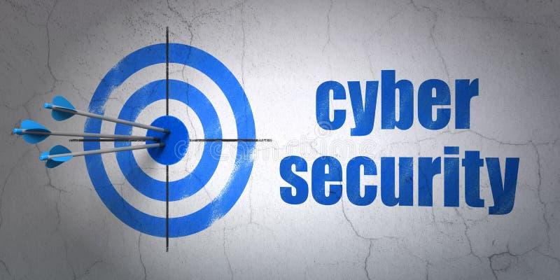 Concept de sécurité : sécurité de cible et de Cyber dessus illustration stock