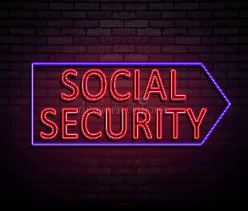 Concept de sécurité sociale illustration libre de droits