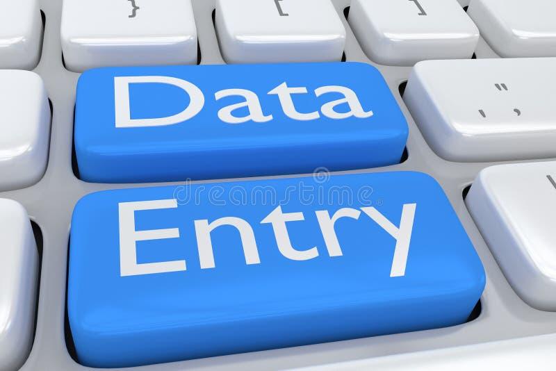 Concept de saisie de données illustration de vecteur