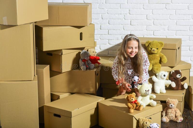 Concept de salle de jeu Tout ce dont elle a besoin, ce sont des jouets Chez moi, où sont mes jouets Collection d'ours en peluche  photographie stock libre de droits