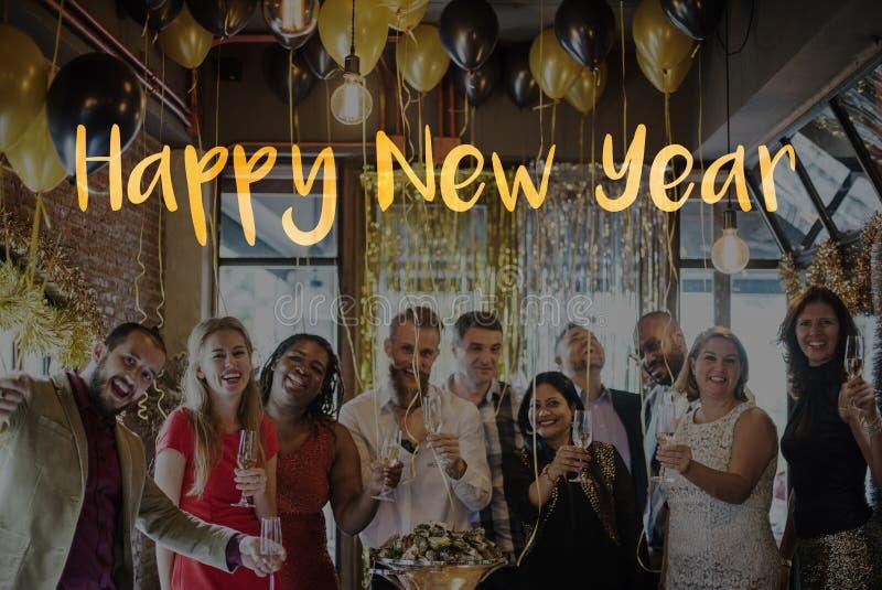 Concept 2017 de salutation de célébration de bonne année photos libres de droits