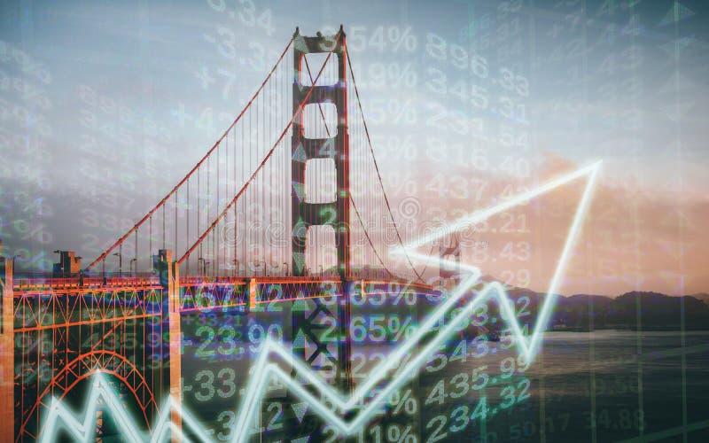 Concept de San Francisco Cost Of Living Rising de haute qualité image stock