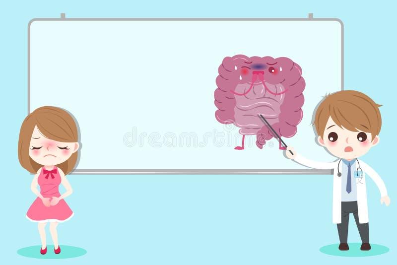 Concept de santé d'intestin illustration libre de droits