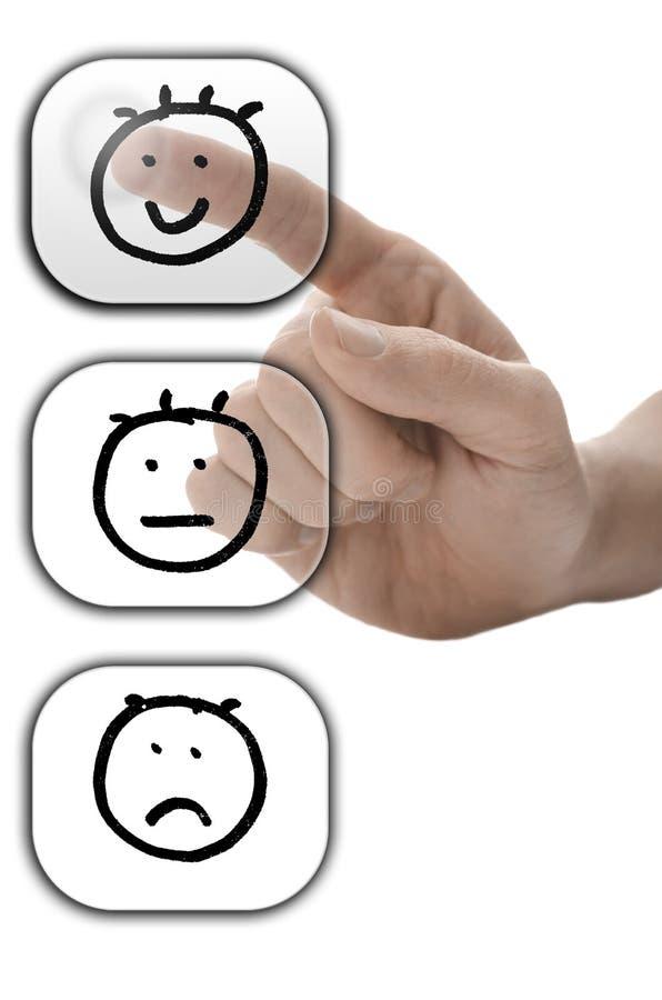 Concept de satisfaction du client photos libres de droits