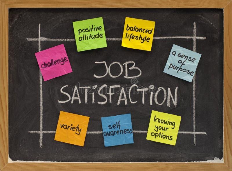 Concept de satisfaction professionnelle photo stock