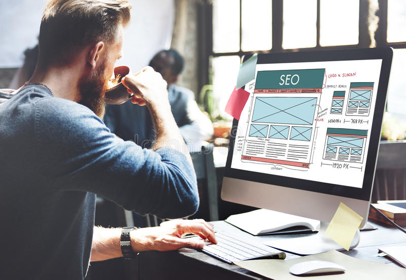 Concept de SEO Search Engine Optimization Data Digital photographie stock libre de droits