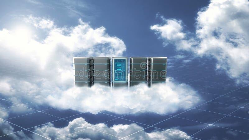 Concept de serveur de nuage d'Internet illustration de vecteur