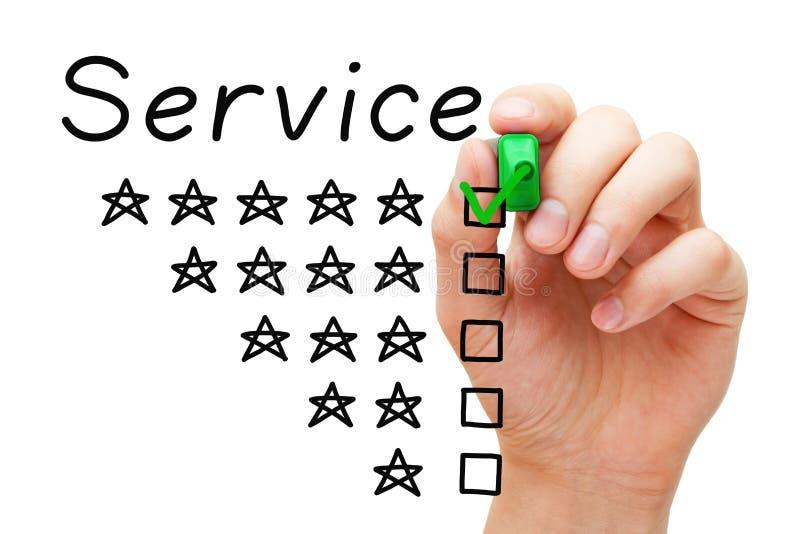 Concept de service d'étoile de la satisfaction du client cinq images libres de droits