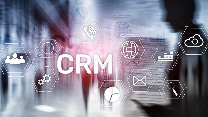 Concept de service d'analyse de gestion de CRM de client professionnel Gestion de relations images stock