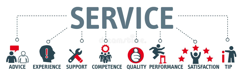 Concept de service de bannière illustration libre de droits