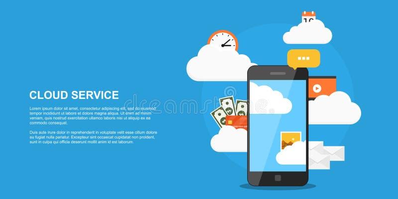 Concept de service de nuage illustration libre de droits