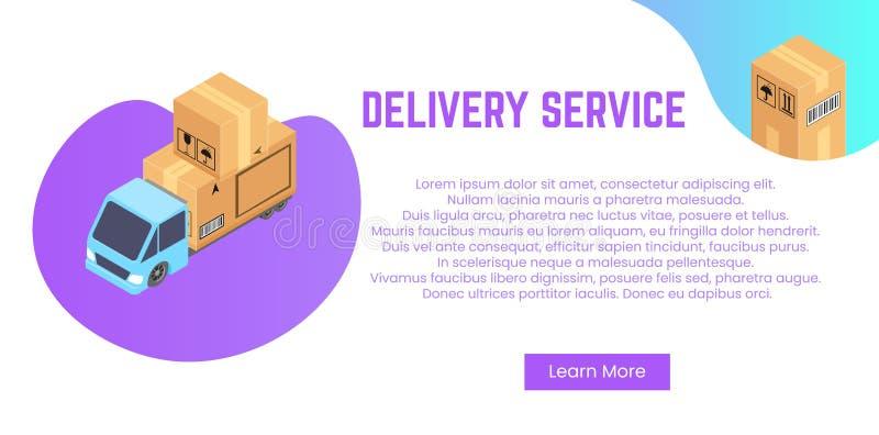Concept de service de distribution Pile de boîtes pour embarquer, relocalisation illustration stock