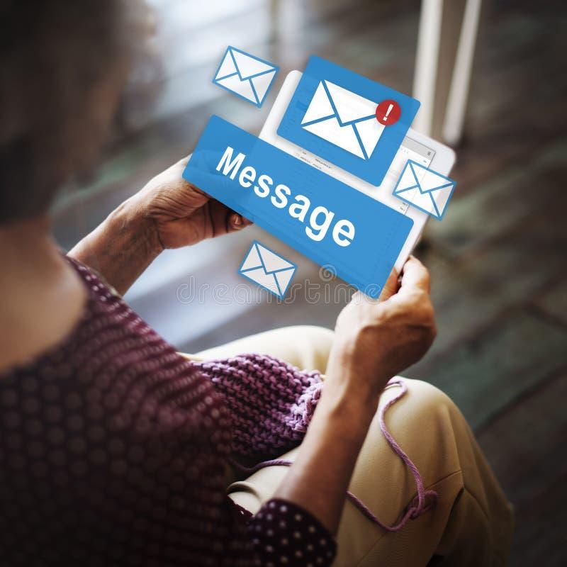 Concept de signal de rapport de lettre de l'information d'email de message photo stock