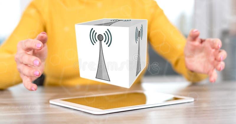 Concept de signal de wifi photo libre de droits