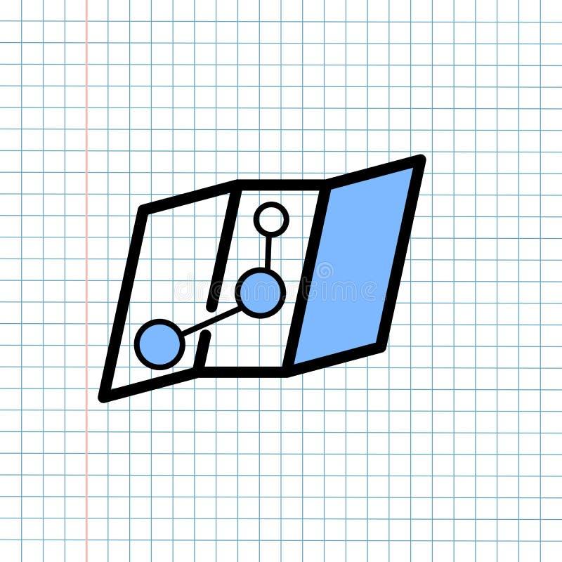 Concept de signe d'icône de navigation de GPS, conception graphique de vecteur du navigateur Symbol de direction pour la destinat illustration stock