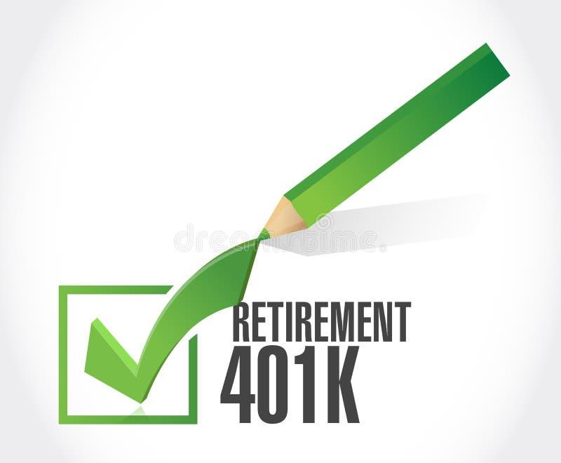 concept de signe de coche de la retraite 401k illustration stock