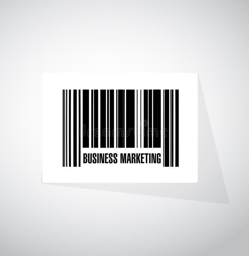 Concept de signe de code barres de vente d'affaires illustration de vecteur