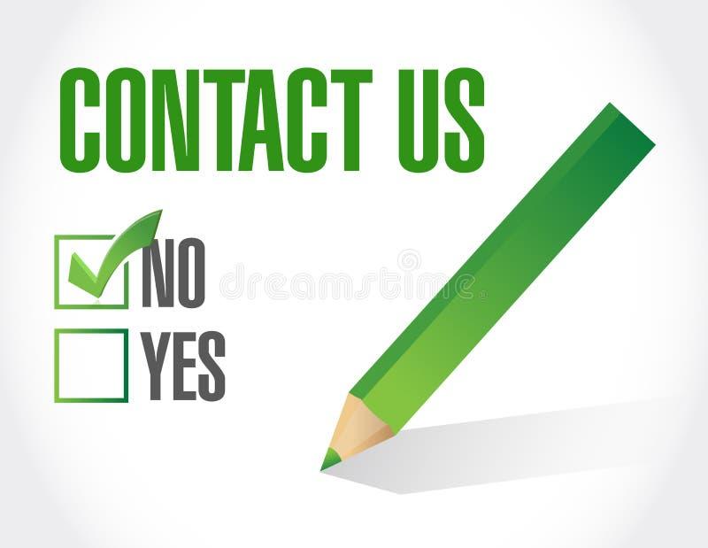 concept de signe de liste de contrôle de contactez-nous illustration de vecteur