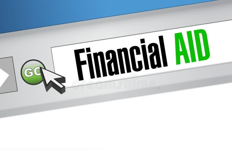 concept de signe de web browser d'aide financière illustration libre de droits